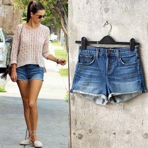 J Brand High Waisted Denim Jean Shorts